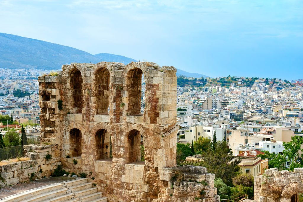 Ancient ruins in the Greek destination of Athens