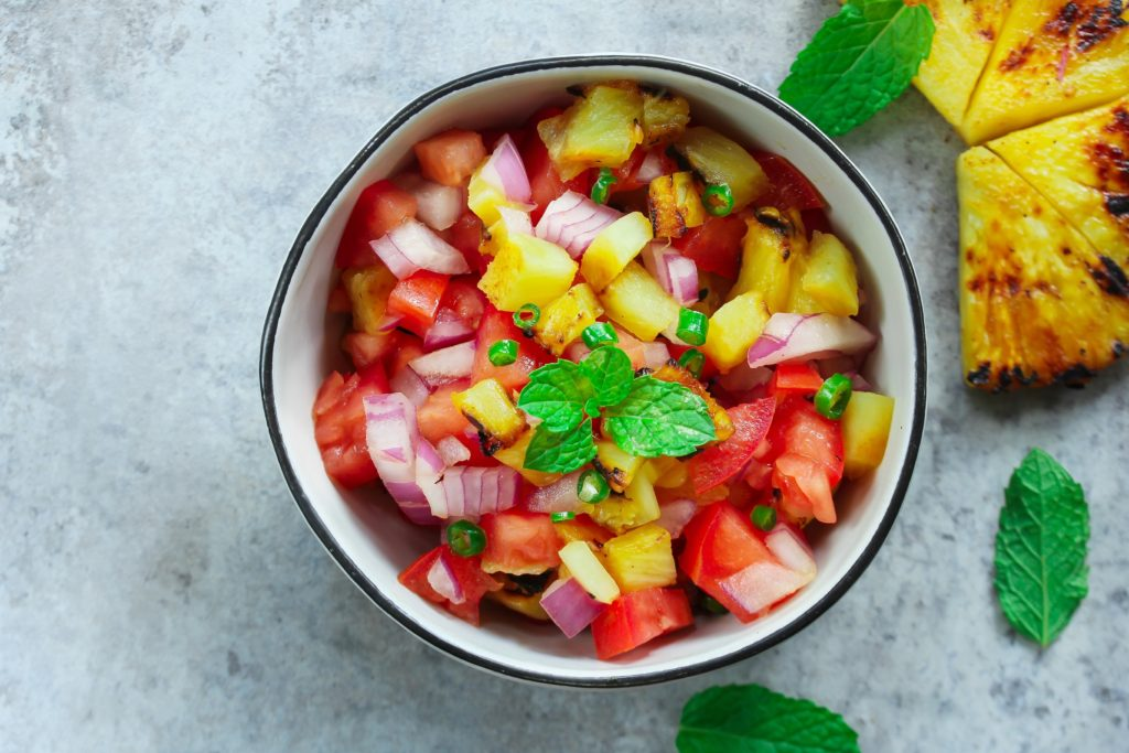 Spicy fruit salsa - west indies recipes