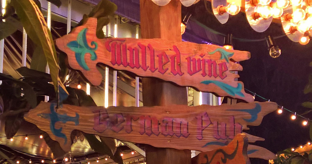 Mulled wine sign - what's on in December